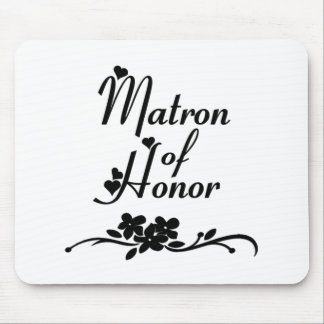Classic Matron of Honor Mouse Pad