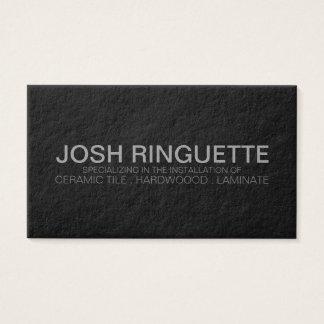 Classic men's black professional business card