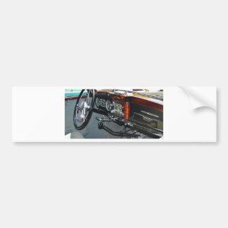 Classic Mercedes dashboard. Bumper Sticker