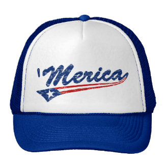 Classic 'Merica US Flag Swoosh Style Trucker Hat