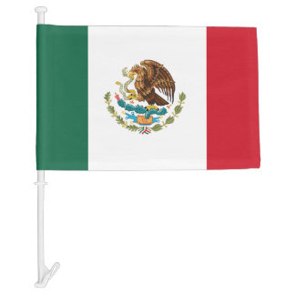 Classic Mexican Flag Car Flag