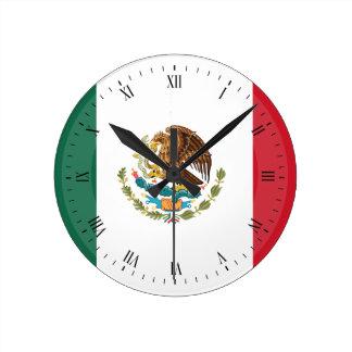 Classic Mexican Flag Clocks
