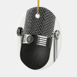Classic Microphone Christmas Ornament