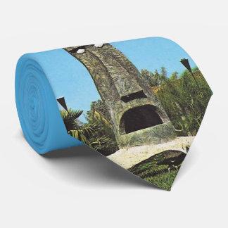 Classic Mid-Century Tiki Gardens Florida necktie