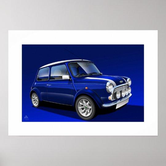 Classic Mini Cooper Poster Illustration
