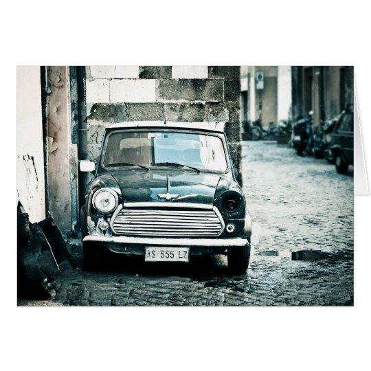 Classic Mini in Rome Card
