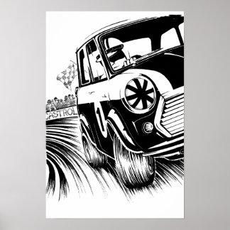 Classic Mini Racing Artwork Poster