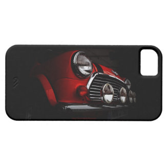 Classic Mini with rally lights iPhone Case iPhone 5 Cases