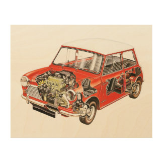 Classic Mini Wood Art