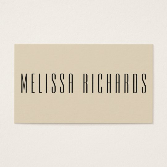 Classic Minimalist Black and White Business Card