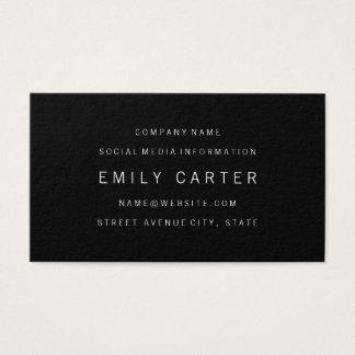 Classic Minimalist Professional Black Business Card