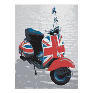 Classic Mod Scooter Posters
