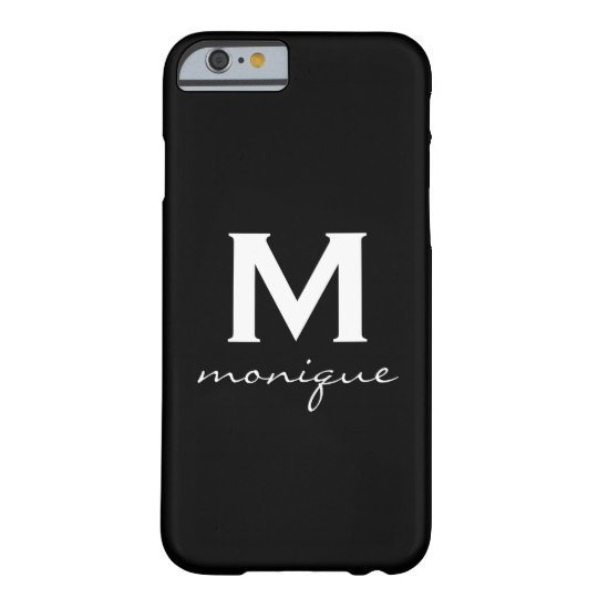 Classic Monogram and Initial Black and White Barely