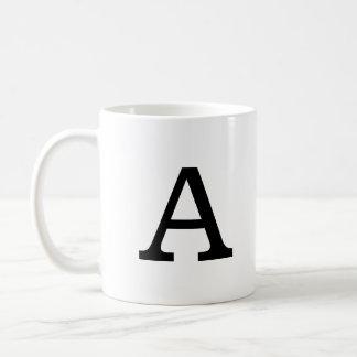 Classic Monogram Basic White Mug