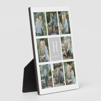 Classic Monogram Collage Photo Plaque