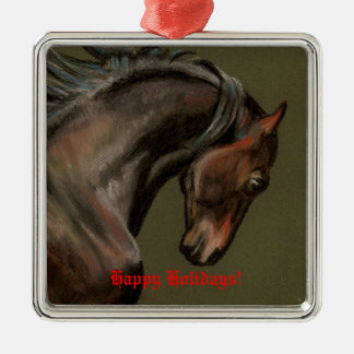 Classic Morgan Stallion Christmas Ornament