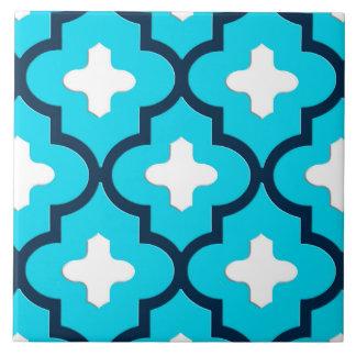 Classic Moroccan Tile, Indigo and Sky Blue Tile