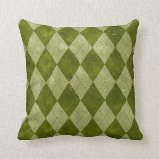 Classic Mossy Green Argyle Geometric Pattern Cushion