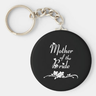 Classic Mother of the Bride Basic Round Button Key Ring