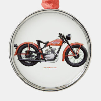 Classic Motorbike 125 HD_Texturized Christmas Ornament