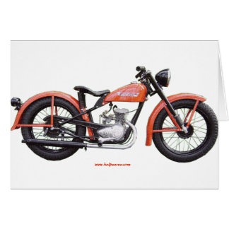 Classic Motorbike 125 HD_Texturized.gif Greeting Card
