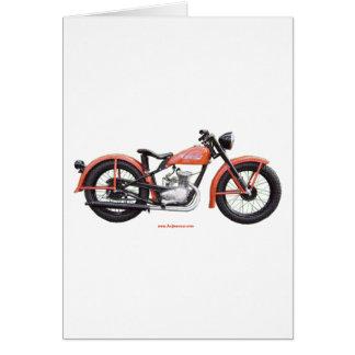 Classic Motorbike 125 HD_Texturized Greeting Card