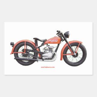 Classic Motorbike 125 HD_Texturized Rectangular Sticker