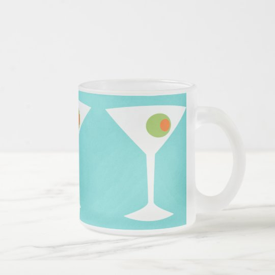 Classic Movie Martini Frosted Mug (turquoise)