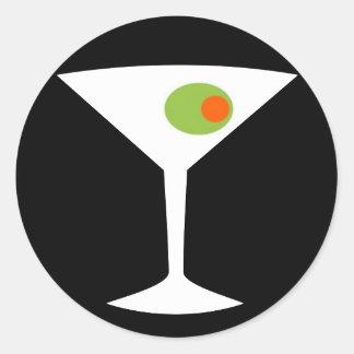 Classic Movie Martini Round Stickers