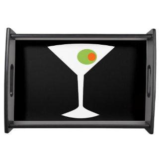 Classic Movie Martini Serving Tray (black)