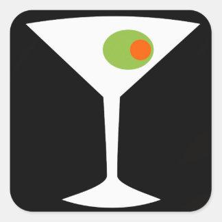 Classic Movie Martini Sticker (black)