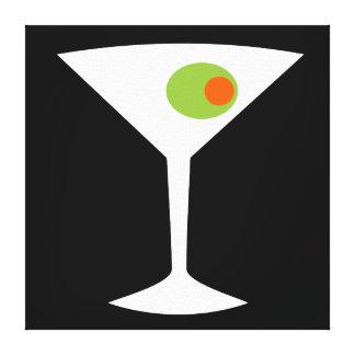 Classic Movie Martini Stretched Canvas (black) Canvas Print