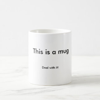 "classic mug ""deal with it"""