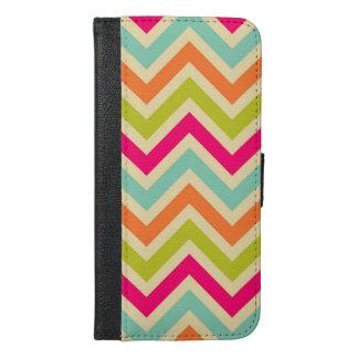 Classic Multicolor Chevron Pattern iPhone 6/6s Plus Wallet Case