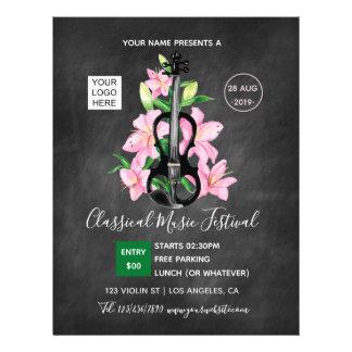 Classic Music Festival Chalkboard Flyer