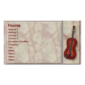 Classic Music Profile Card Business Cards