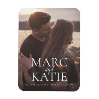 Classic Name Save The Date Magnet