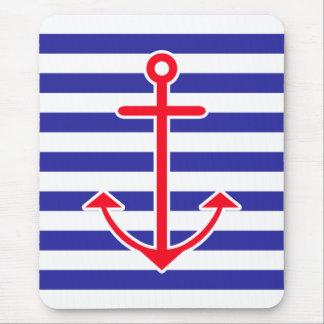 Classic Nautical Anchor Mouse Mat