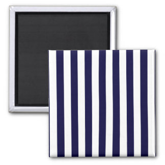 Classic Navy Blue and White Stripe Pattern Magnet