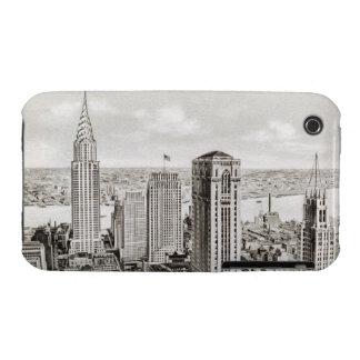 Classic New York Skyline Retro iphone Cover Case-Mate iPhone 3 Case