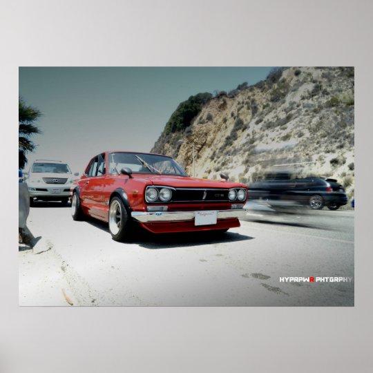 """Classic"" Nissan Hakosuka Skyline on PCH Poster"