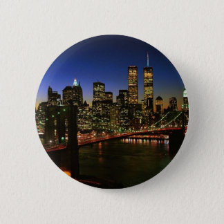 Classic NYC Skyline 6 Cm Round Badge