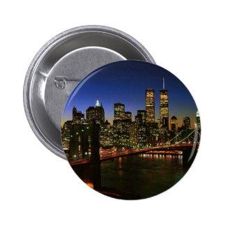 Classic NYC Skyline Button