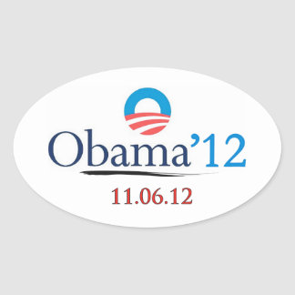 Classic Obama 2012 Oval Sticker