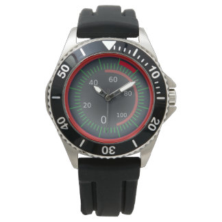 Classic Odometer Graphic Watch