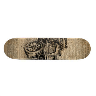 Classic Old Car,Vintage Vehicle Dictionary Art Skate Boards