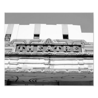 Classic Old Movie Theatre Marquee Photograph