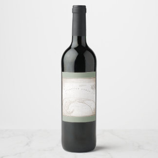 Classic Old P-Town Map Wine Label