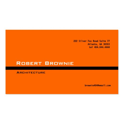 Collections of law school business cards classic orange black line business card colourmoves Choice Image