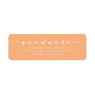 Classic Orange Graduation Address Labels